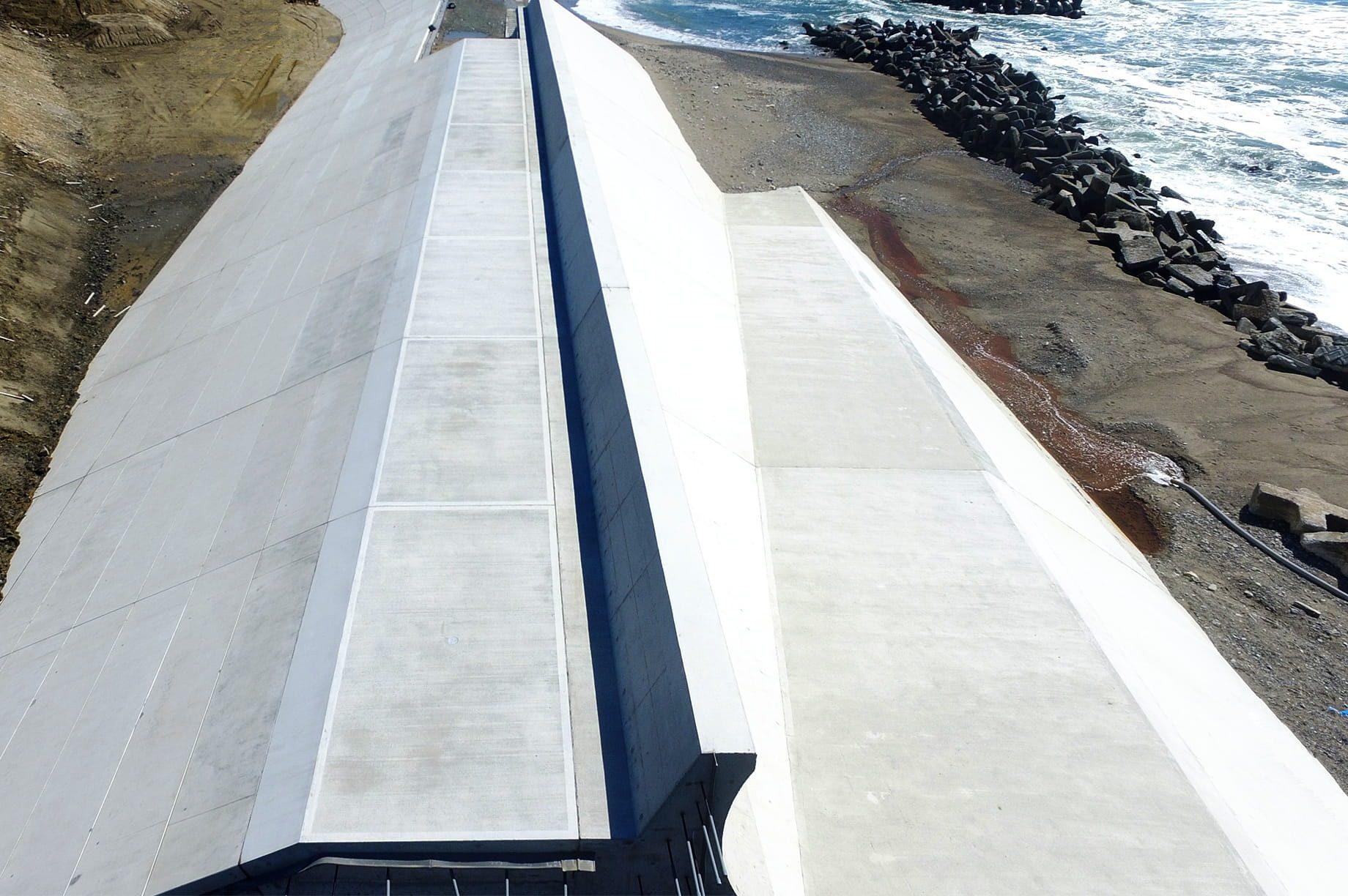 浅見川海岸堤防